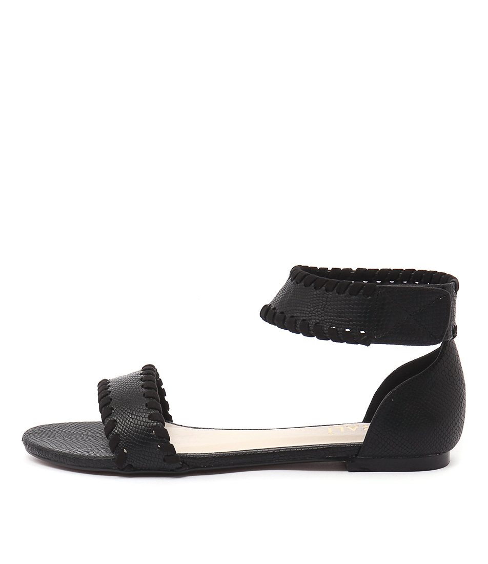 Verali Rome Ve Black Snake Sandals