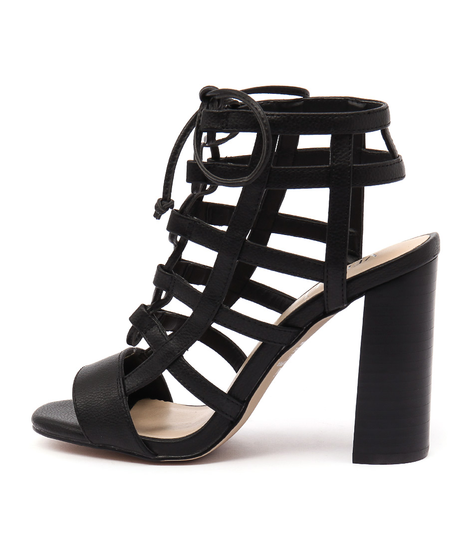 Verali Lotta Ve Black Dress Heeled Sandals