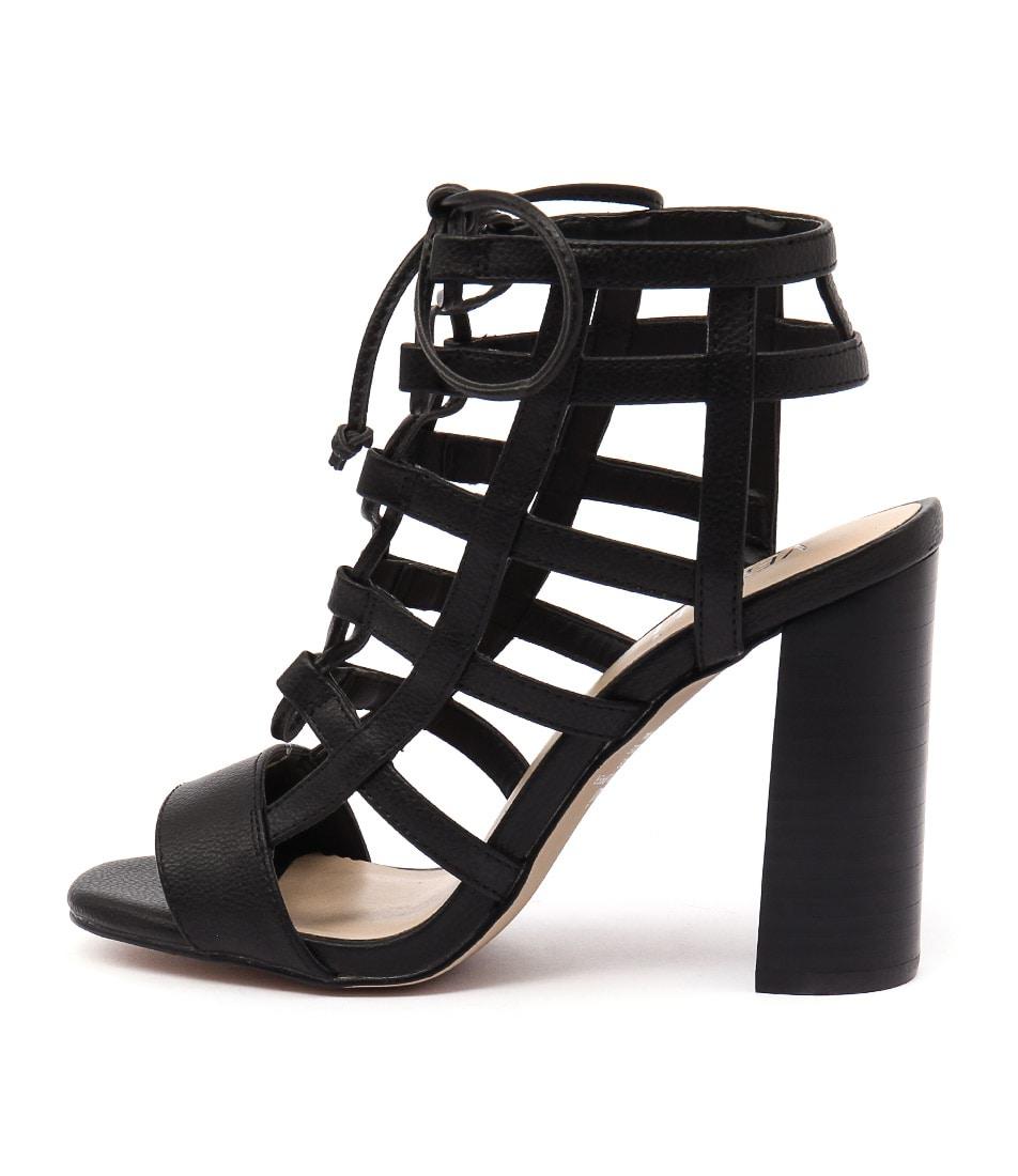 Verali Lotta Ve Black Sandals