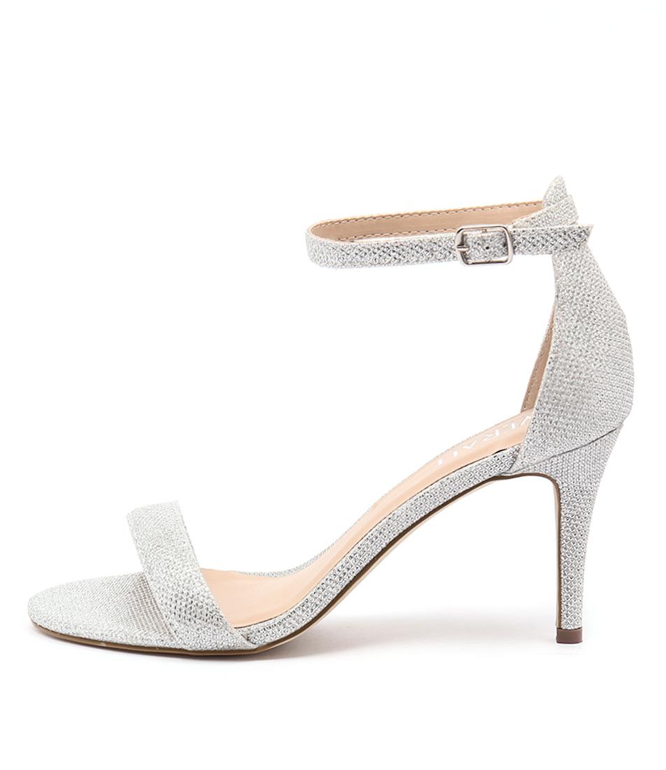 Verali Matthew Silver Glitter Sandals