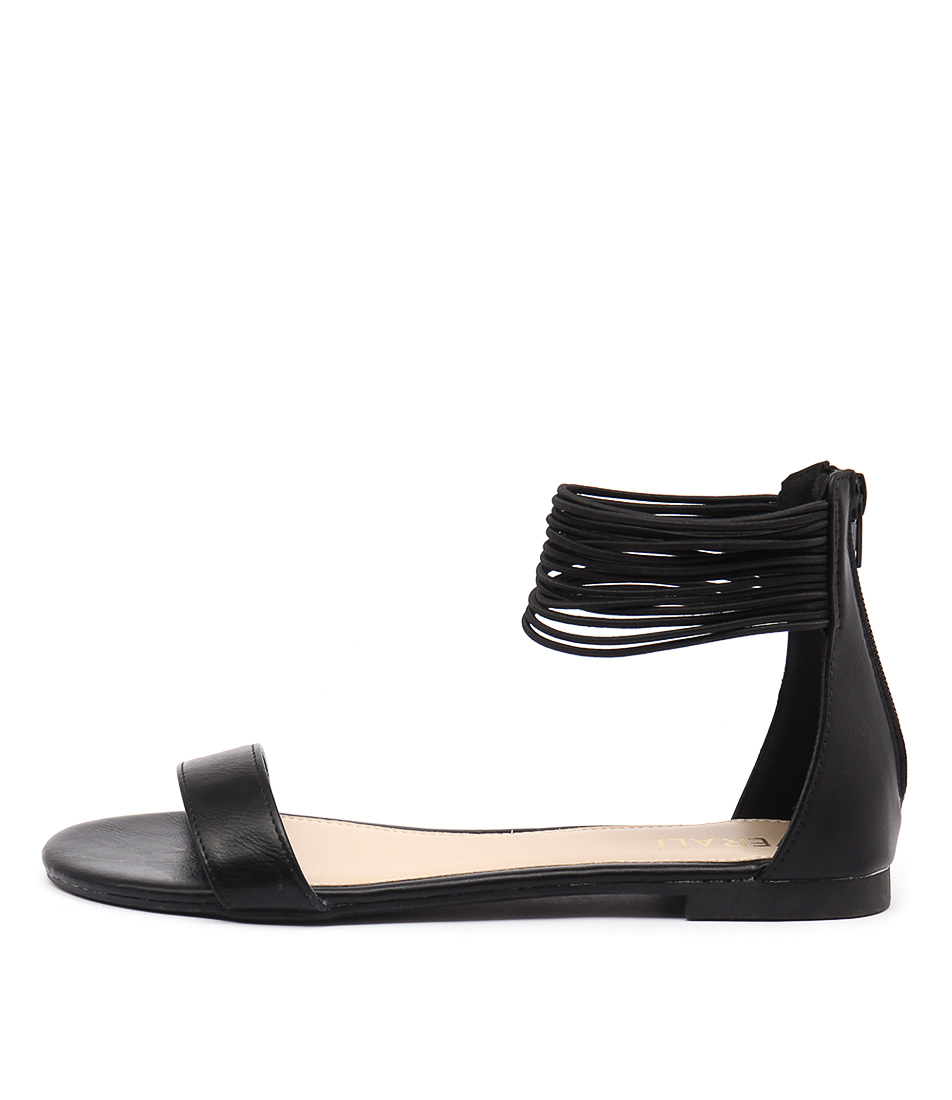 Verali Bailey Ve Black Casual Flat Sandals