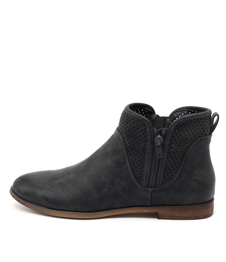 Verali Evitah Navy Casual Ankle Boots