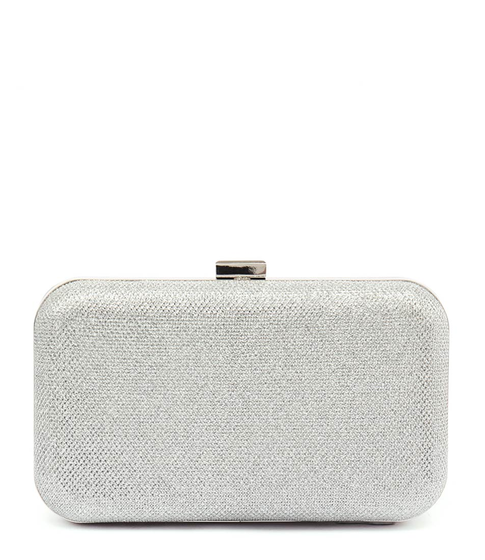 Verali Titan Ve Silver Glitter Bags Womens Shoes Party Clutch Bags