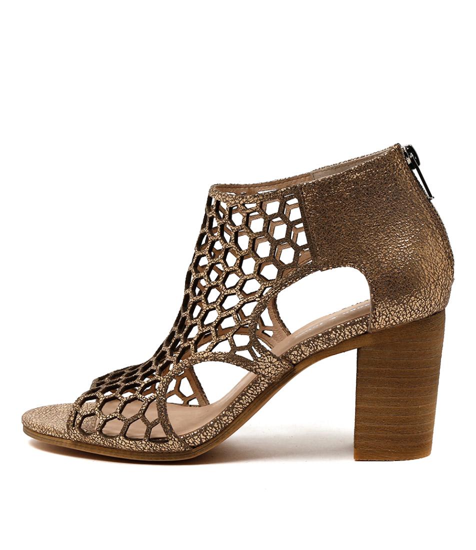 Django & Juliette Viable Peach Heeled Sandals
