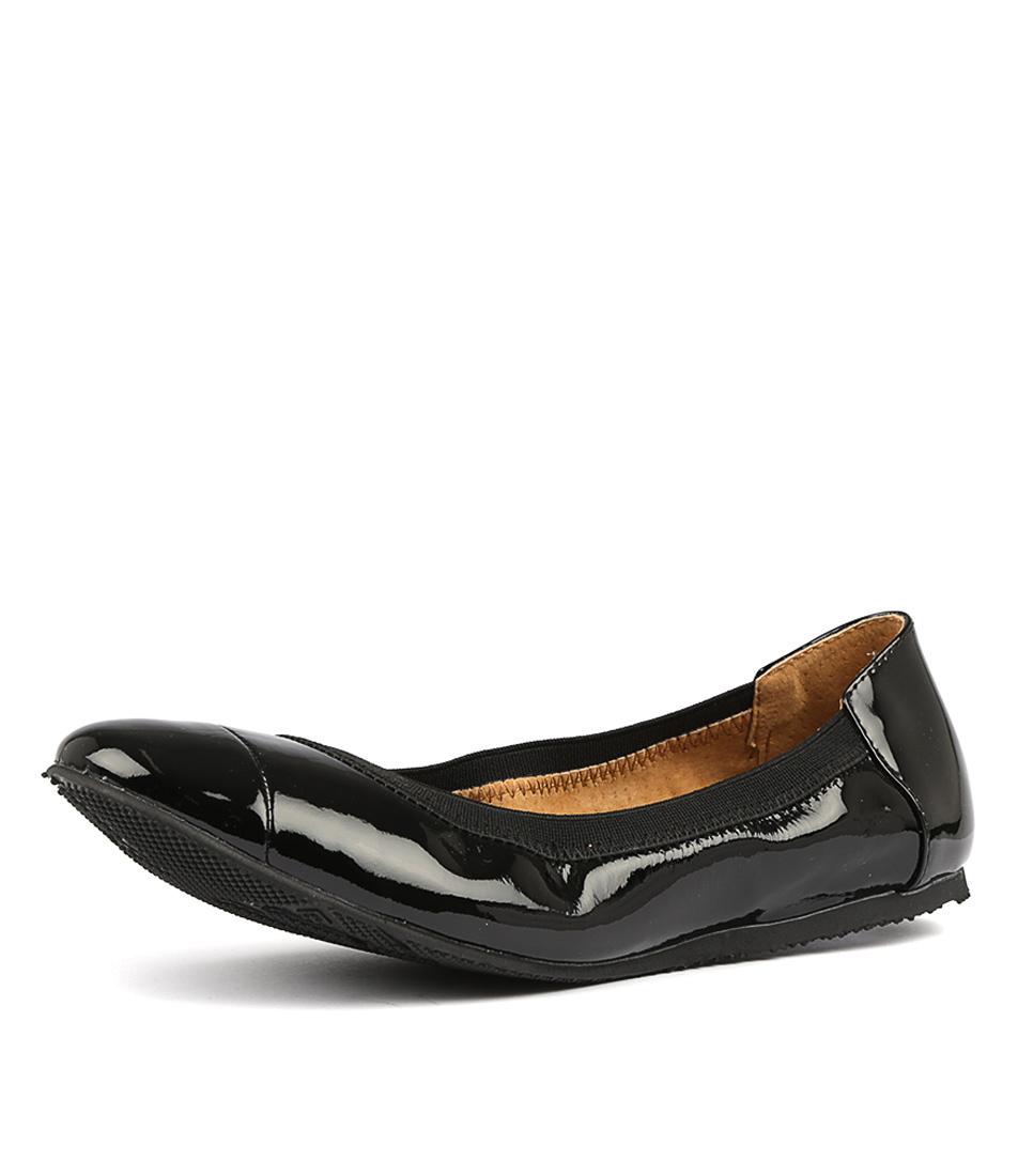 Ava Flat Casual Womens Ballet Walnut Black Shoes New 5x0RqSY