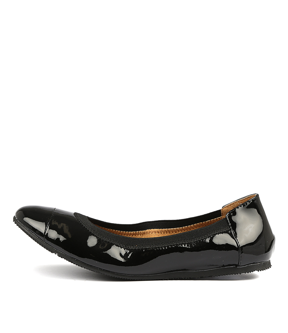 Walnut Ava Ballet Black Flats