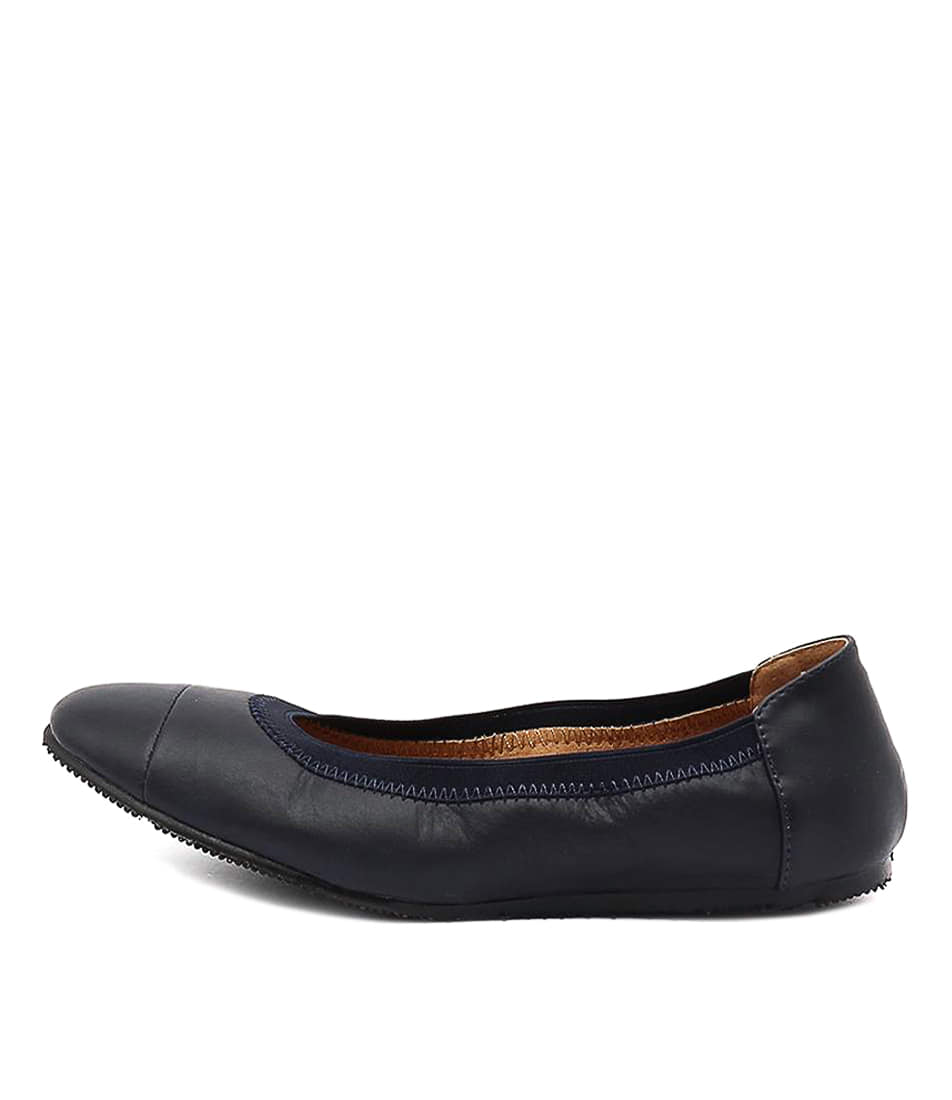 Buy Walnut Ava Ballet French Navy Flats online with free shipping