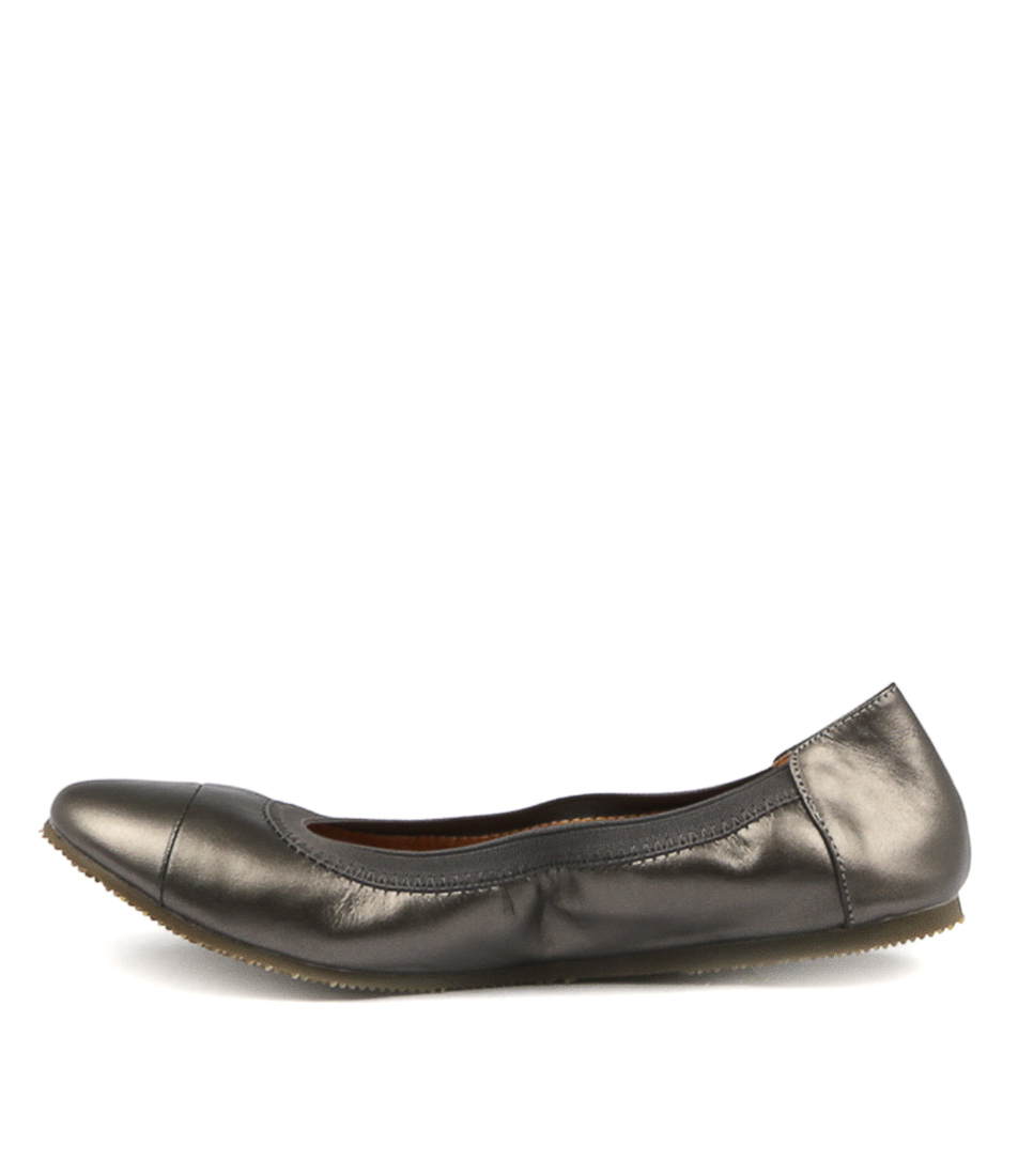 Walnut Ava Ballet Pewter Flat Shoes