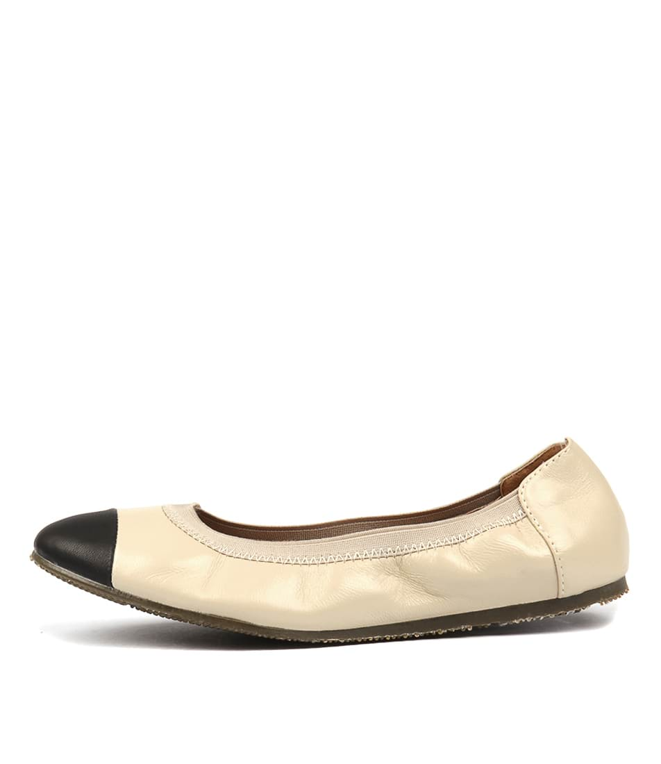 Walnut Ava Ballet Stone Flat Shoes