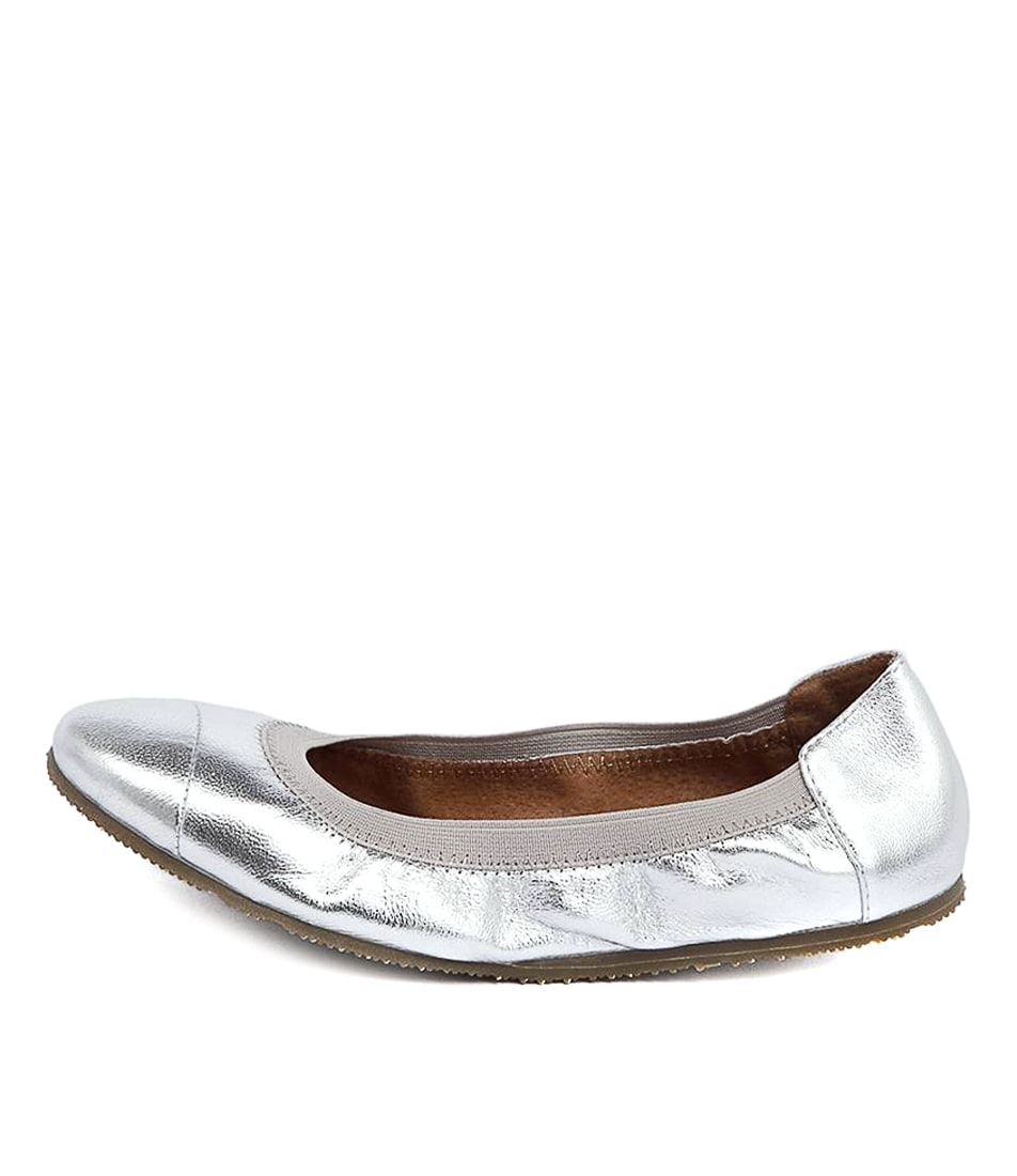 Buy Walnut Ava Ballet Silver Flats online with free shipping