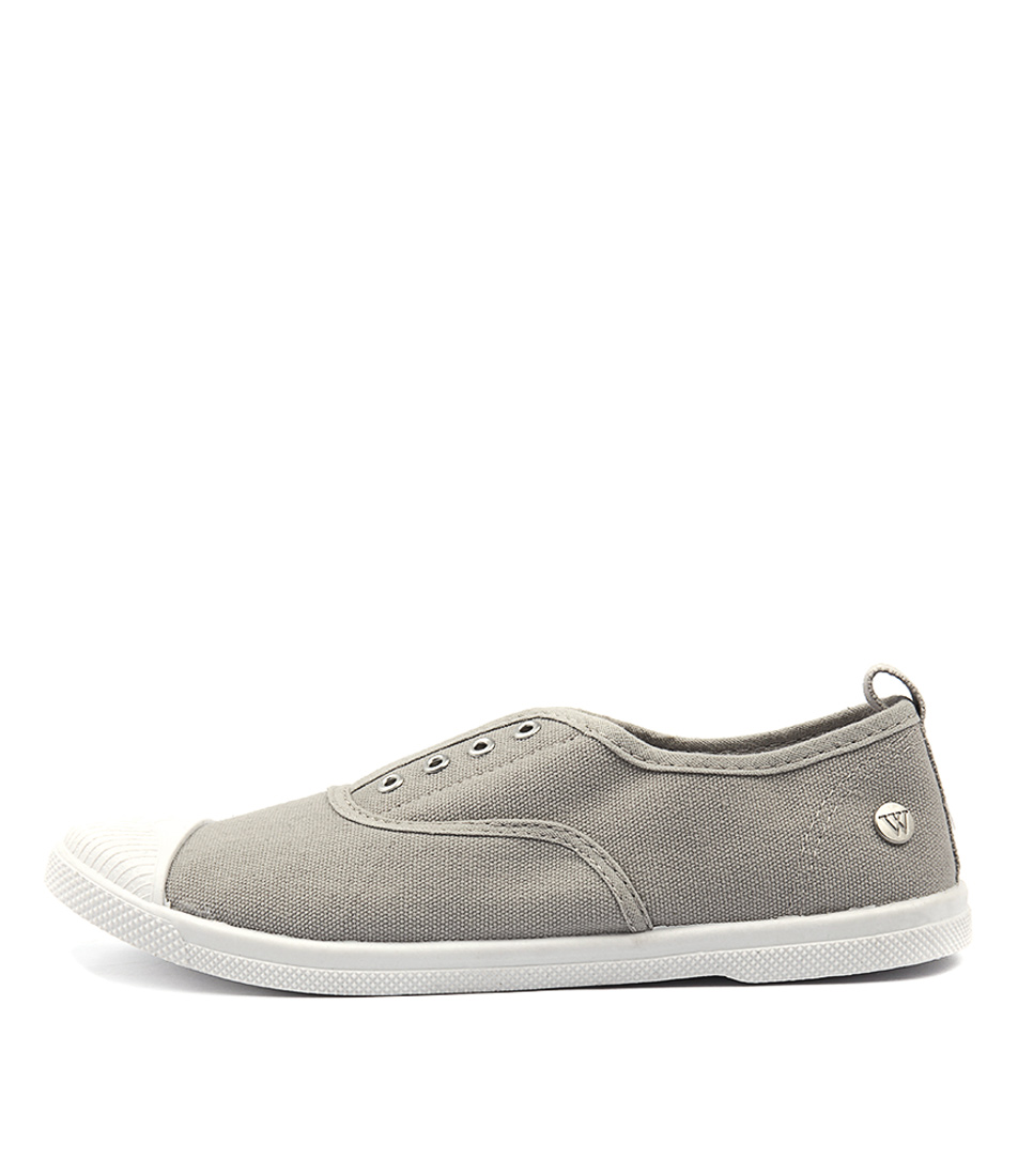 Buy Walnut Euro Plimsole Grey Sneakers online with free shipping
