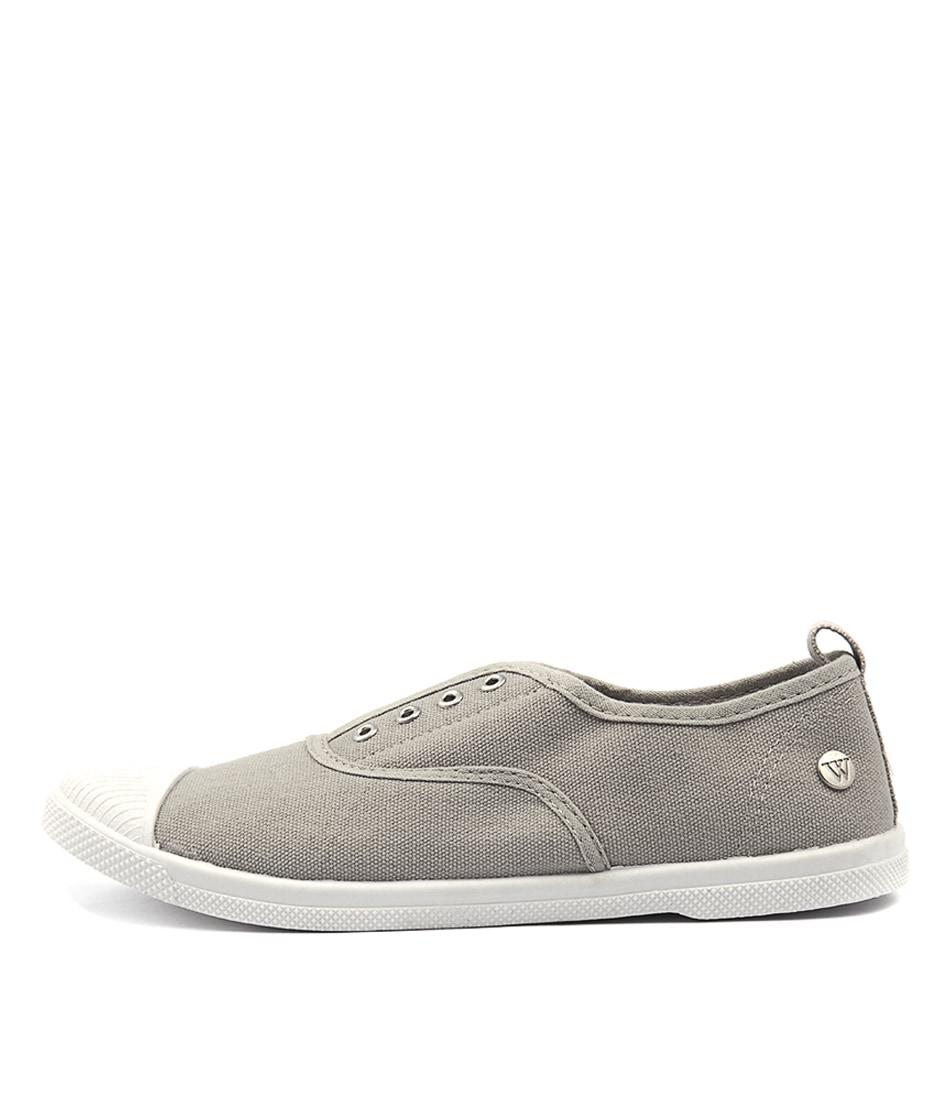 Walnut Euro Plimsole Grey Flat Shoes