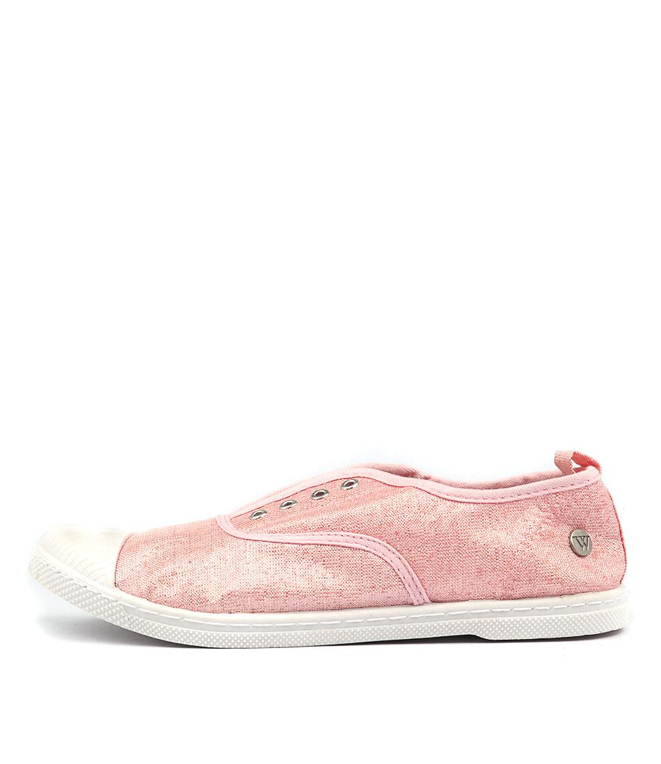 Walnut Euro Plimsole Lurex Pink Flat Shoes