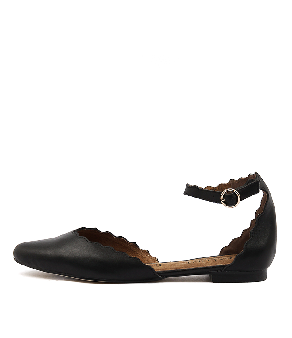 Walnut Amelia Black Casual Flat Shoes buy  online