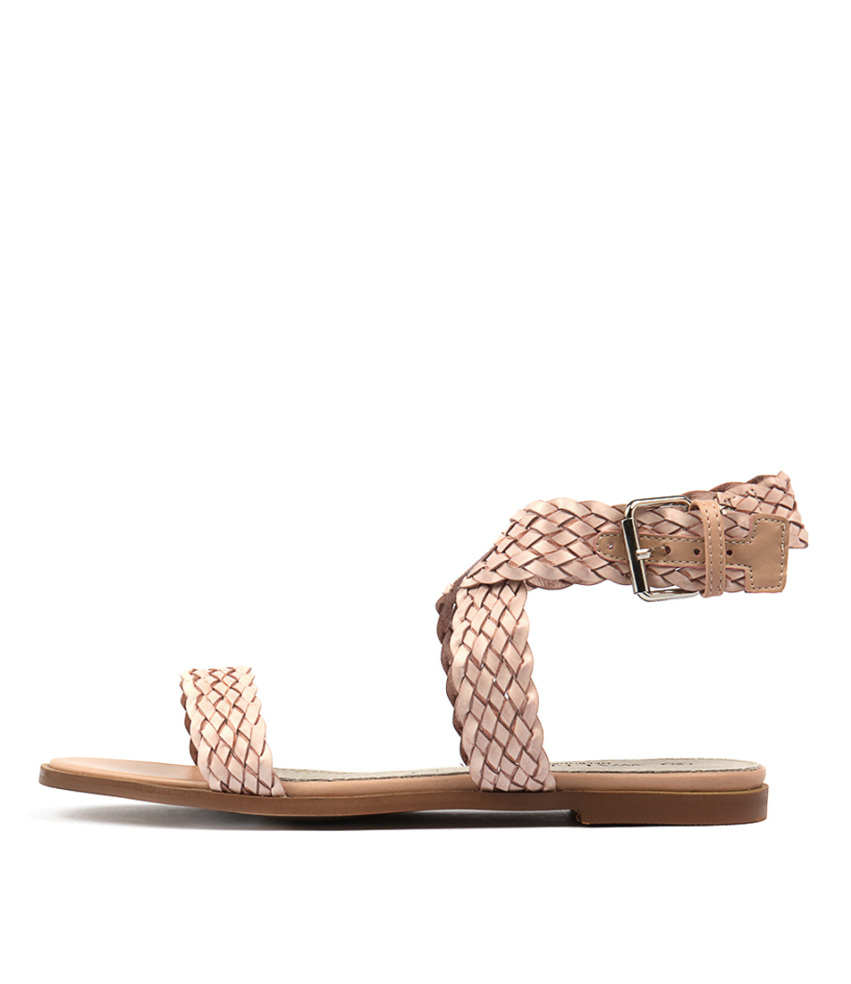 Walnut Alegra Flat Blush Casual Flat Sandals