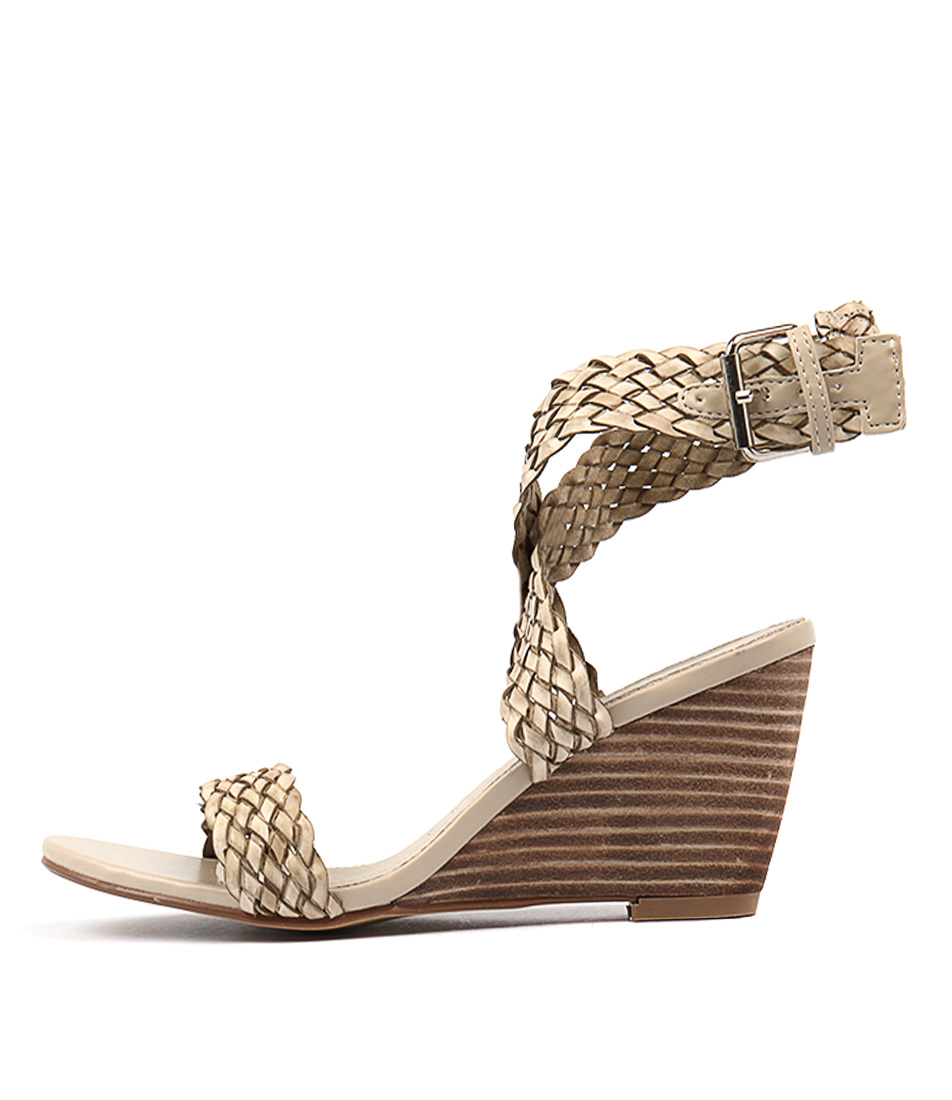 Walnut Alegra Wedge Stone Heeled Sandals