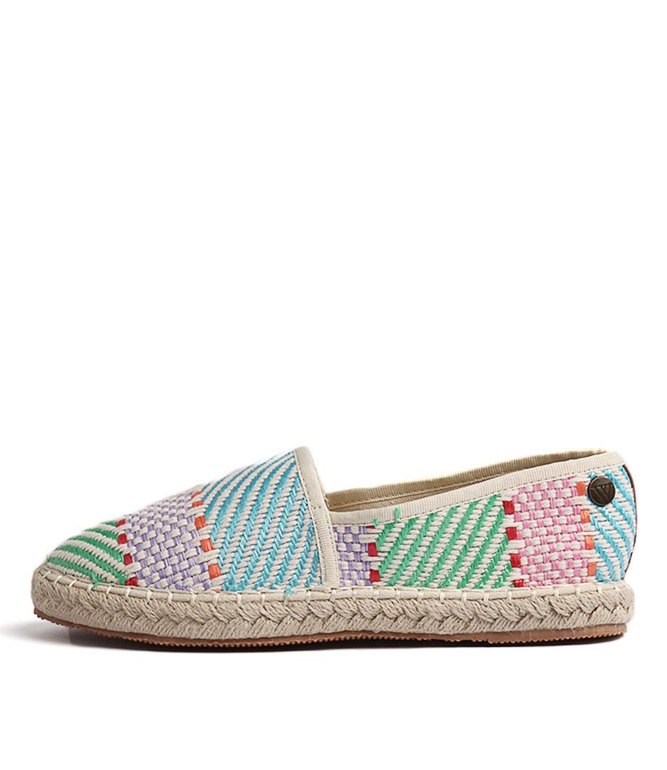 Walnut Georgie Espadrille Bright Multi Flat Shoes