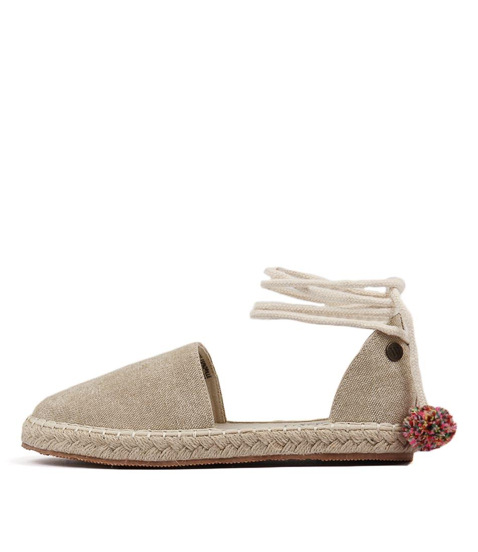 Walnut Margo Espadrille Stone Flat Shoes