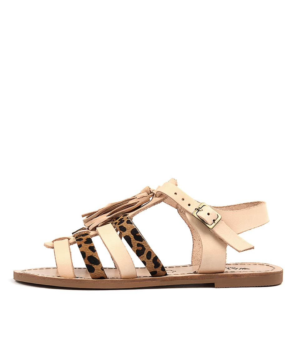 Walnut Naxo Combo Casual Flat Sandals