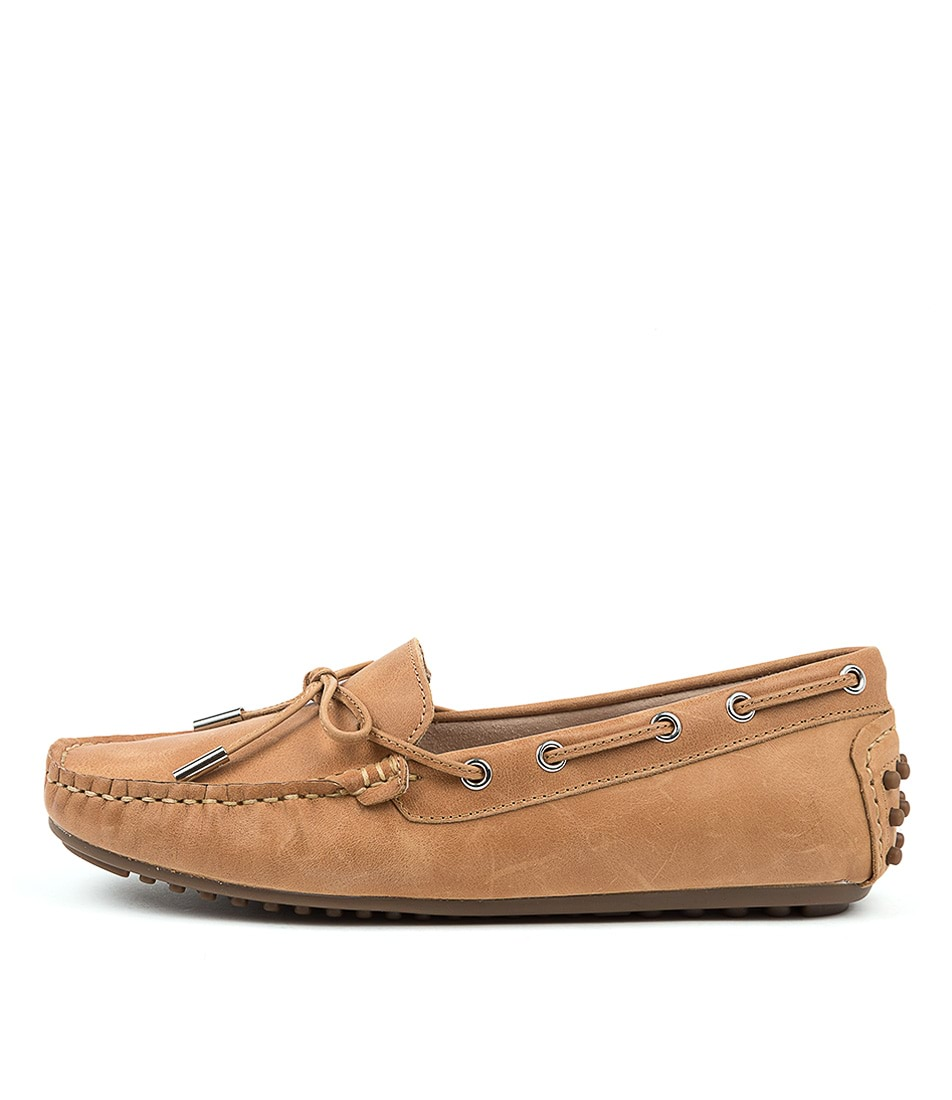Buy Walnut Daria Leather Loafer Tan Flats online with free shipping