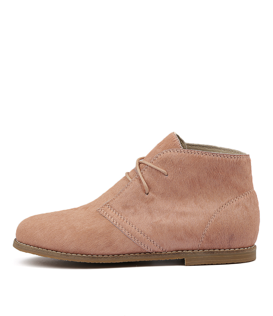 Walnut Ginger Pony Boot Blush Ankle Boots