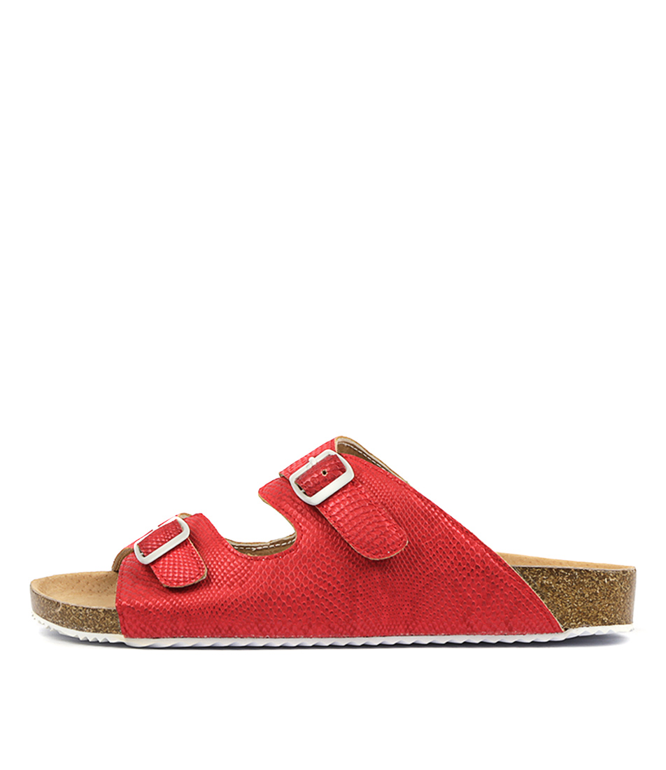 Buy Walnut Bailey Slide Red Flats online with free shipping