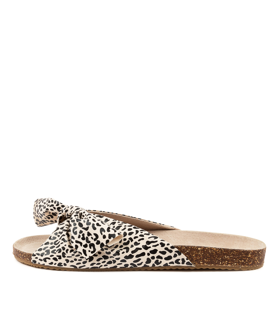 Buy Walnut Somerset Bow Wa Lt Tan Leopard Flat Sandals online with free shipping