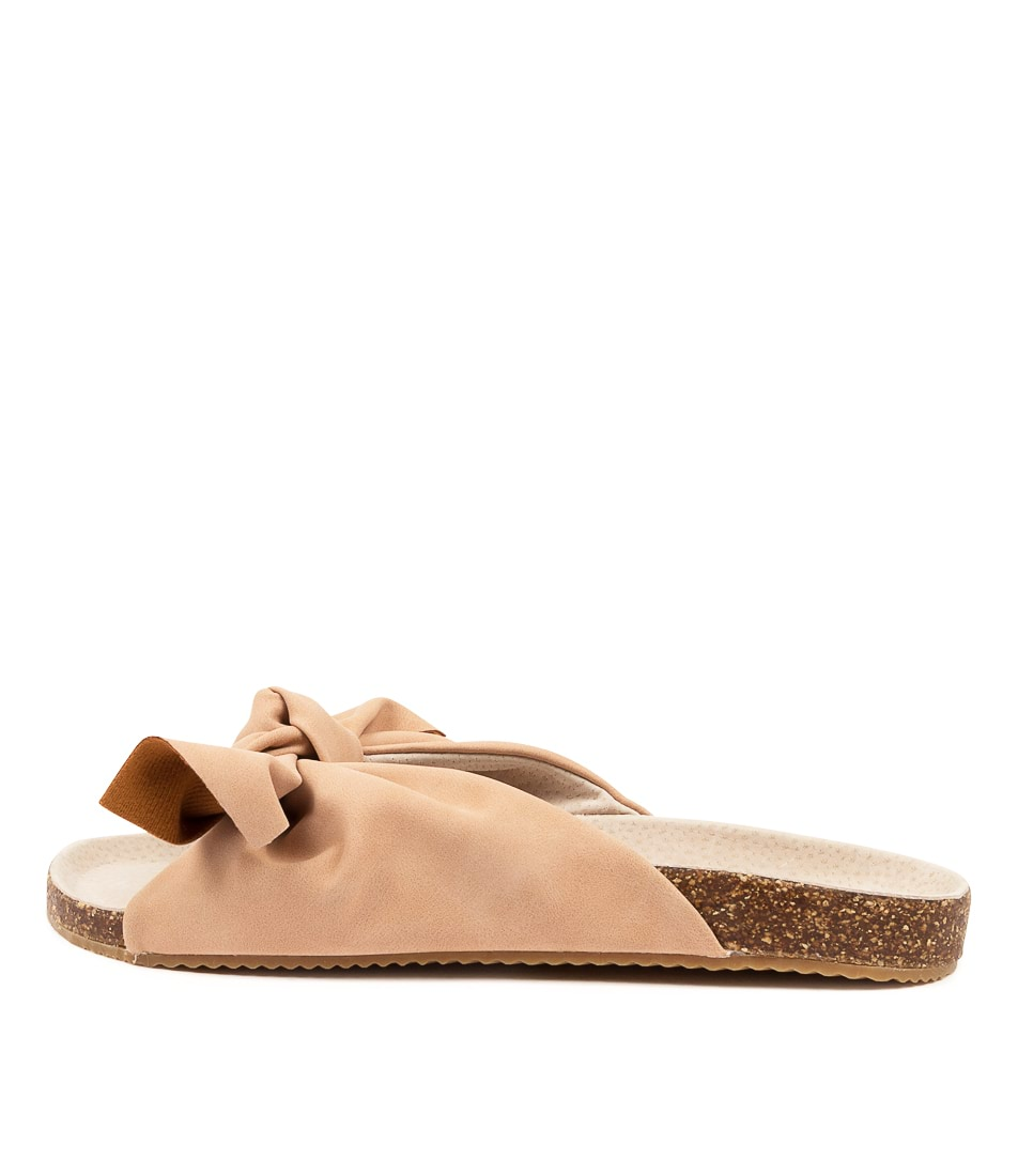 Buy Walnut Somerset Bow Wa Peony Flat Sandals online with free shipping