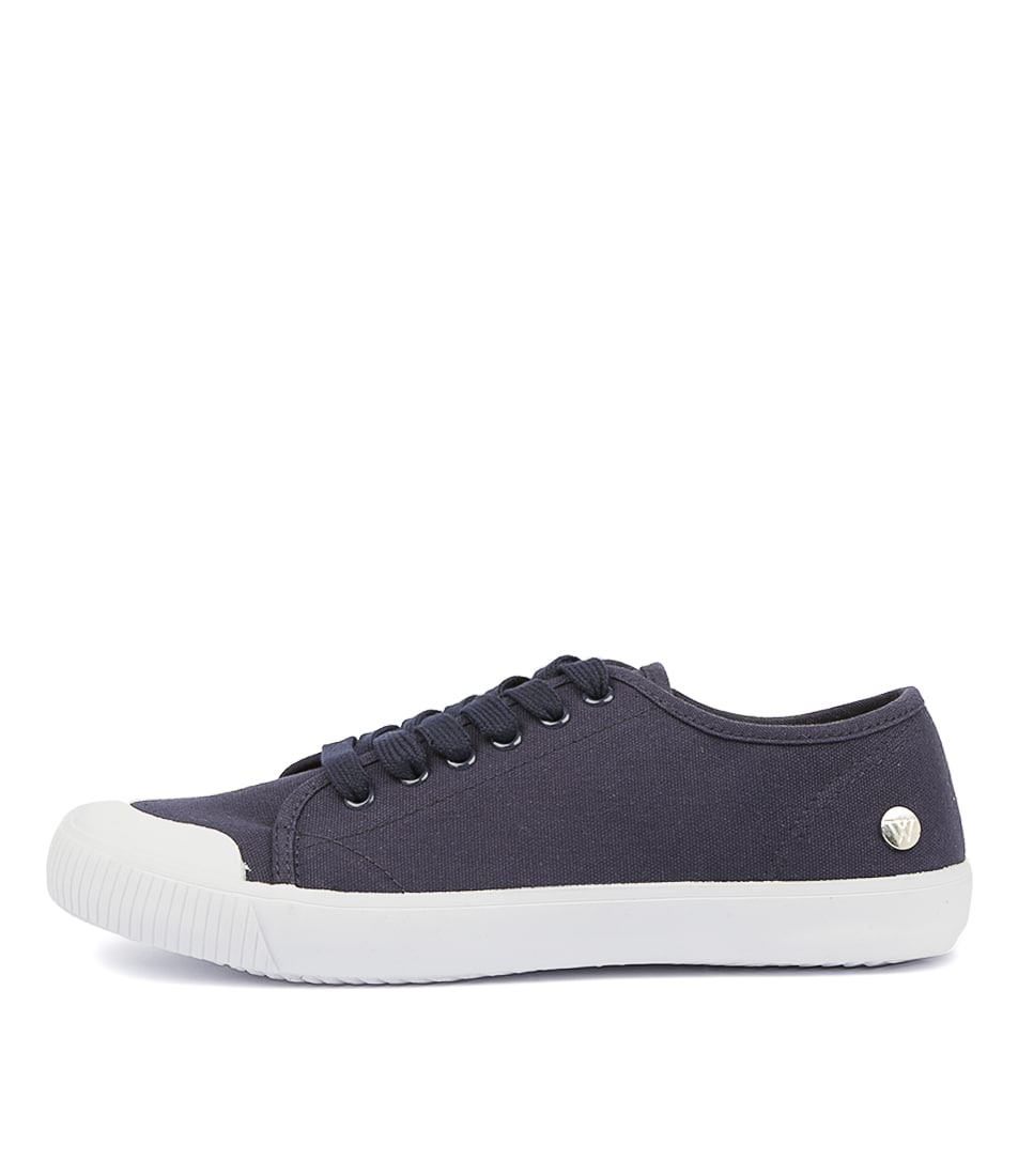 Buy Walnut Empire Canvas Blue Sneakers online with free shipping
