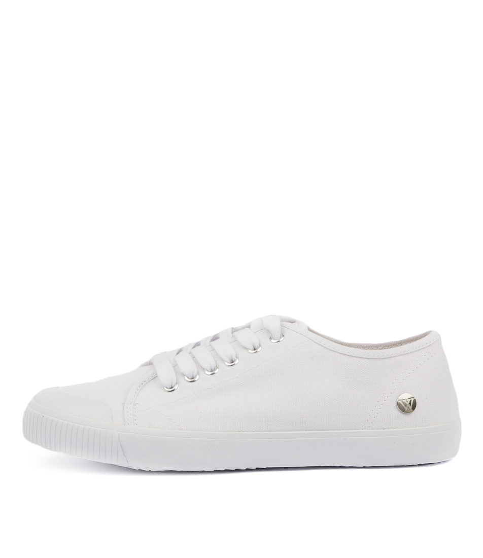 Buy Walnut Empire Canvas White Sneakers online with free shipping