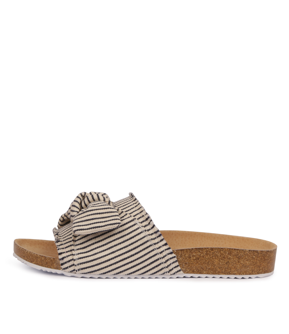 Buy Walnut Bess Slide Blue Flat Sandals online with free shipping