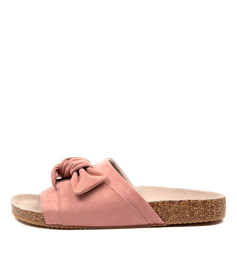 Buy Walnut Bess Slide Blush Flat Sandals online with free shipping