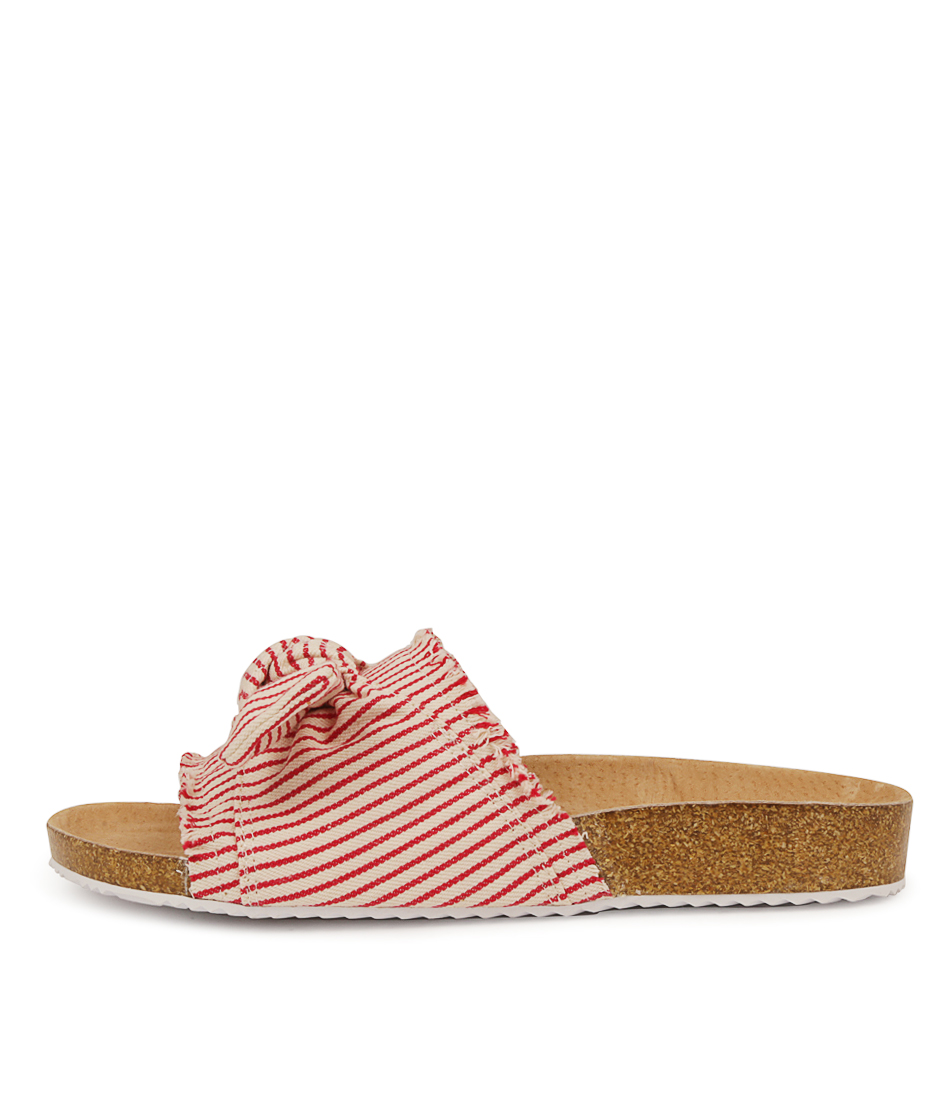Buy Walnut Bess Slide Red Sandals online with free shipping