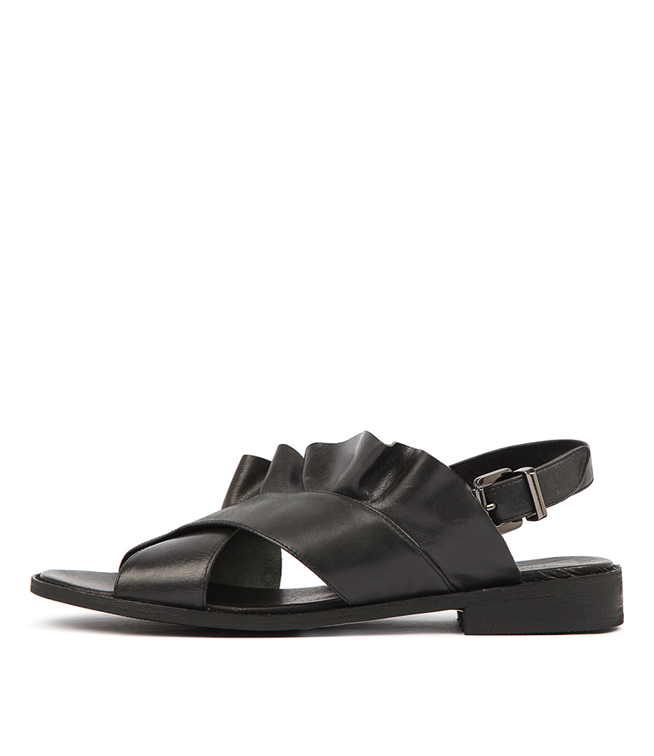 Buy Walnut Eloise Wa Black Sandals online with free shipping