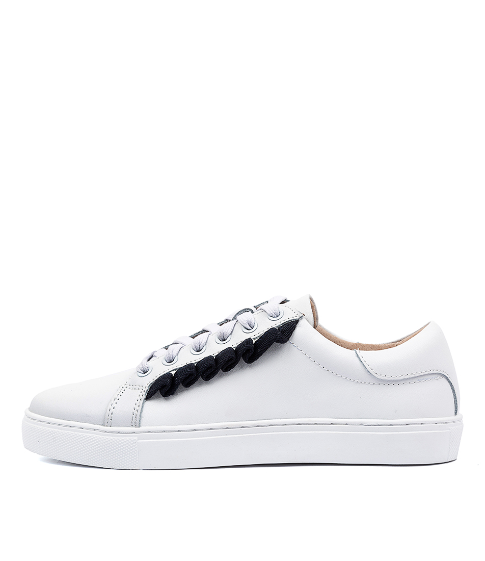 Buy Walnut Alexis Frill White Sneakers online with free shipping