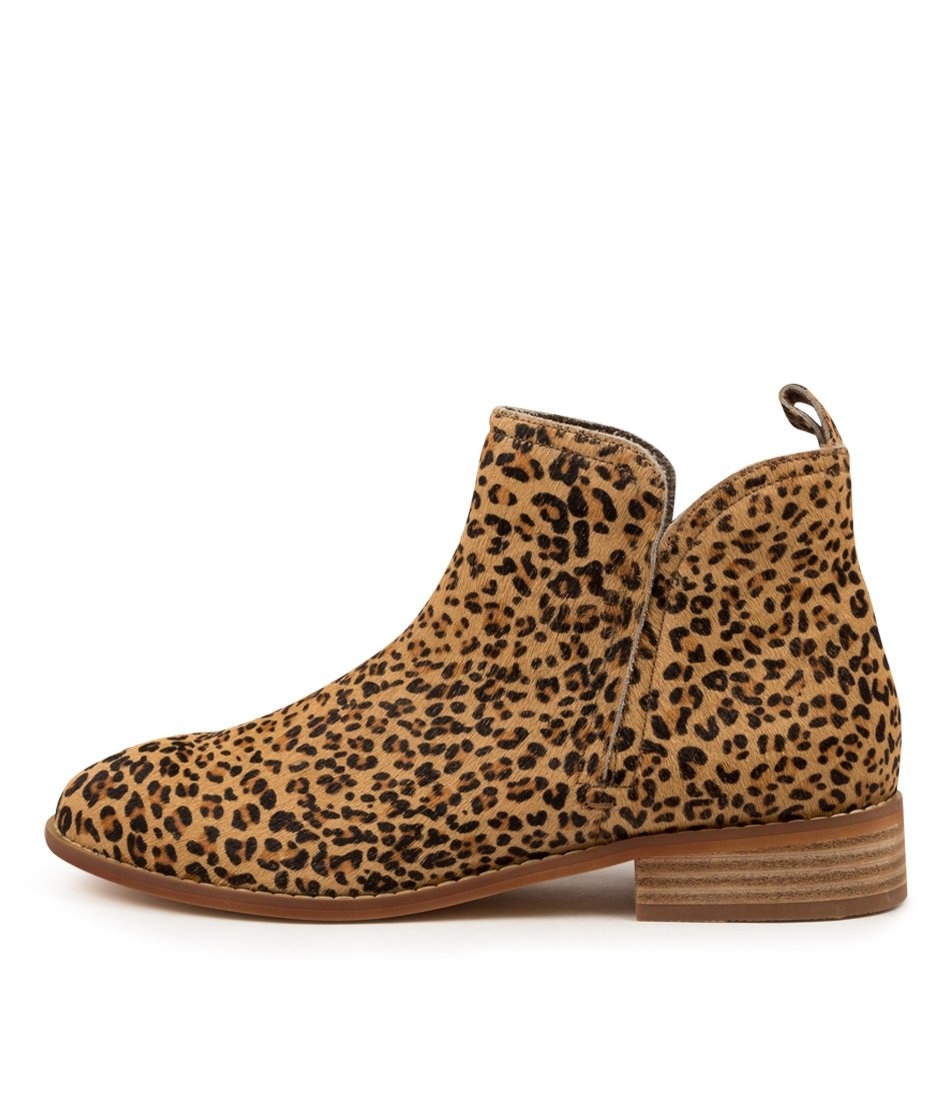 Buy Walnut Douglas Leopard Ankle Boots online with free shipping