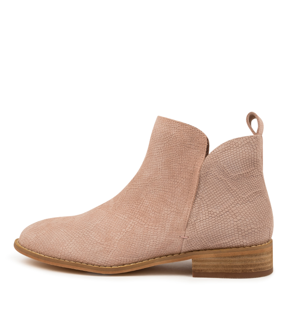 Buy Walnut Douglas Blush Snake Ankle Boots online with free shipping