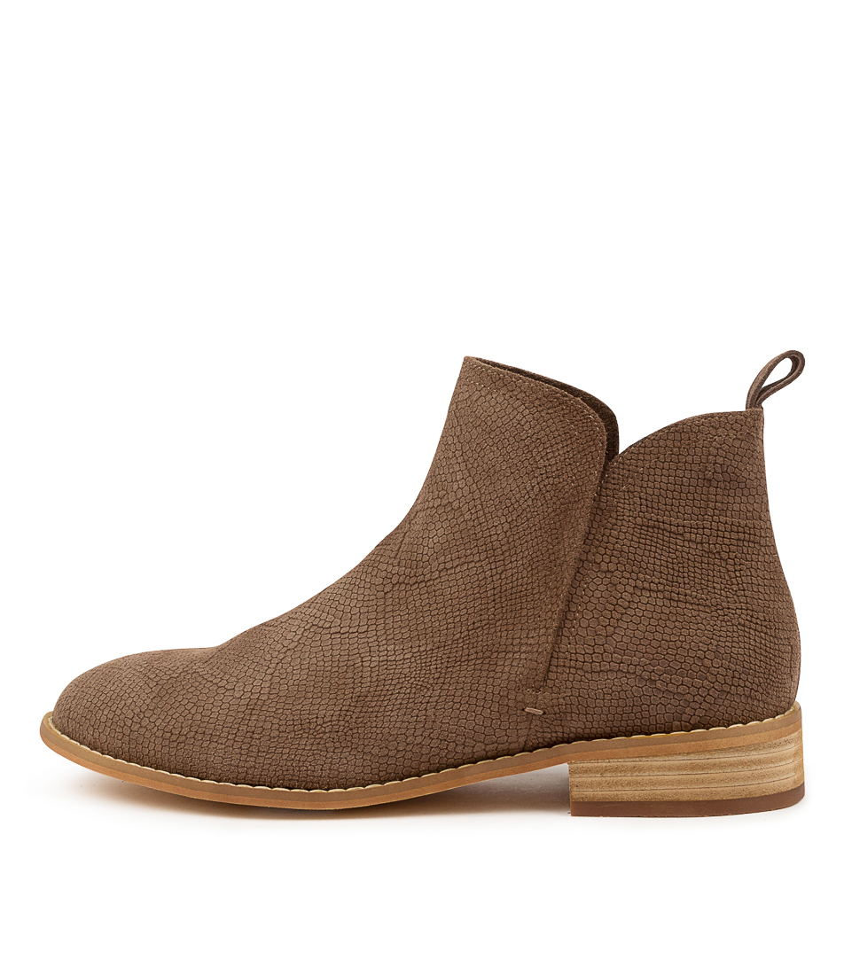 Buy Walnut Douglas Taupe Snake Ankle Boots online with free shipping