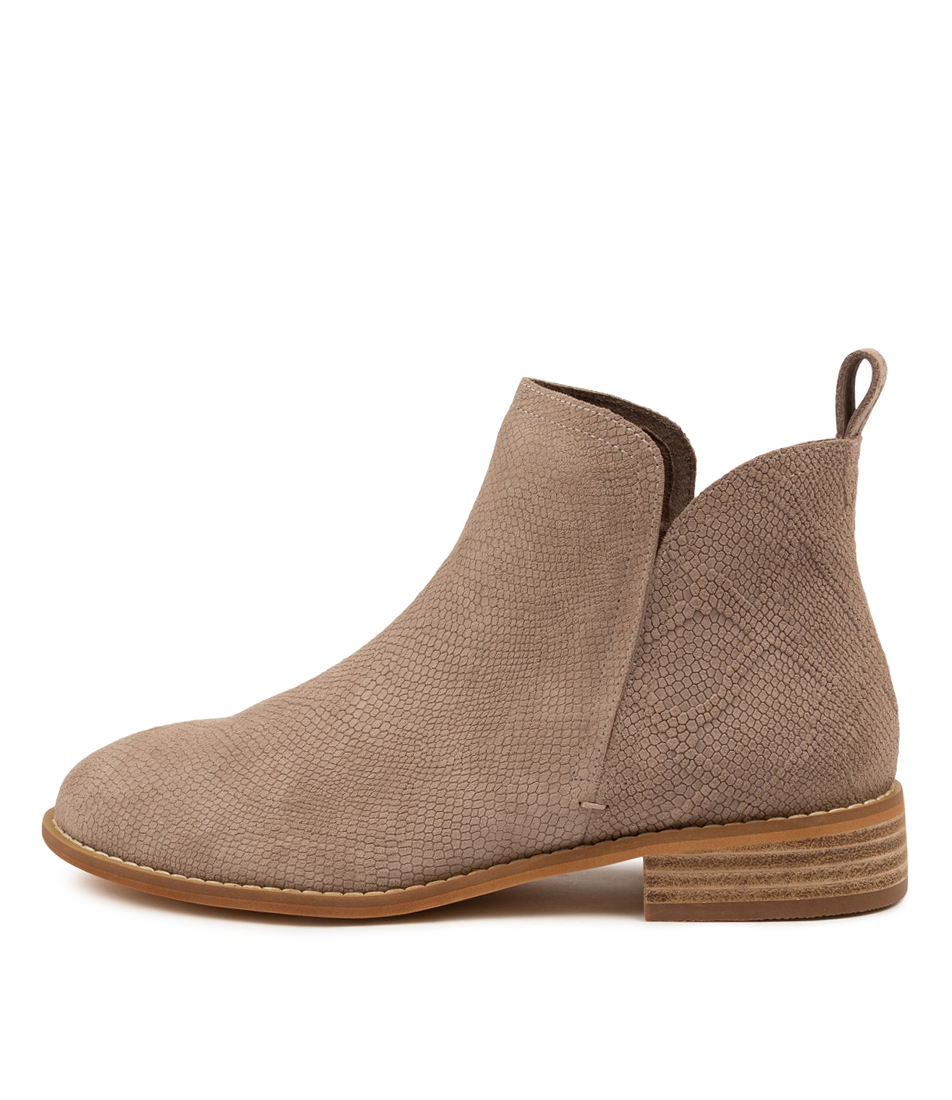 Buy Walnut Douglas Stone Snake Ankle Boots online with free shipping