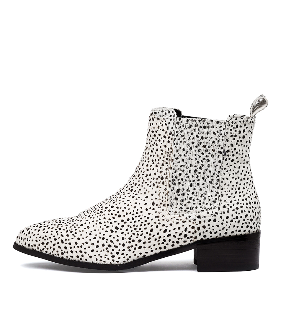 Buy Walnut Jada Leopard Mini W & B Spot Ankle Boots online with free shipping