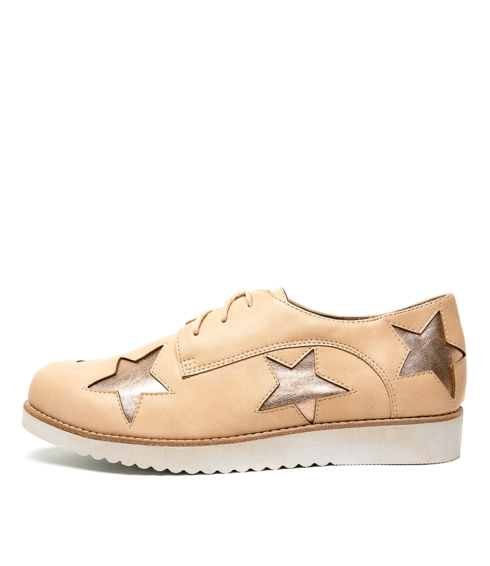 Buy Walnut Maze Star Blush Rose Flats online with free shipping