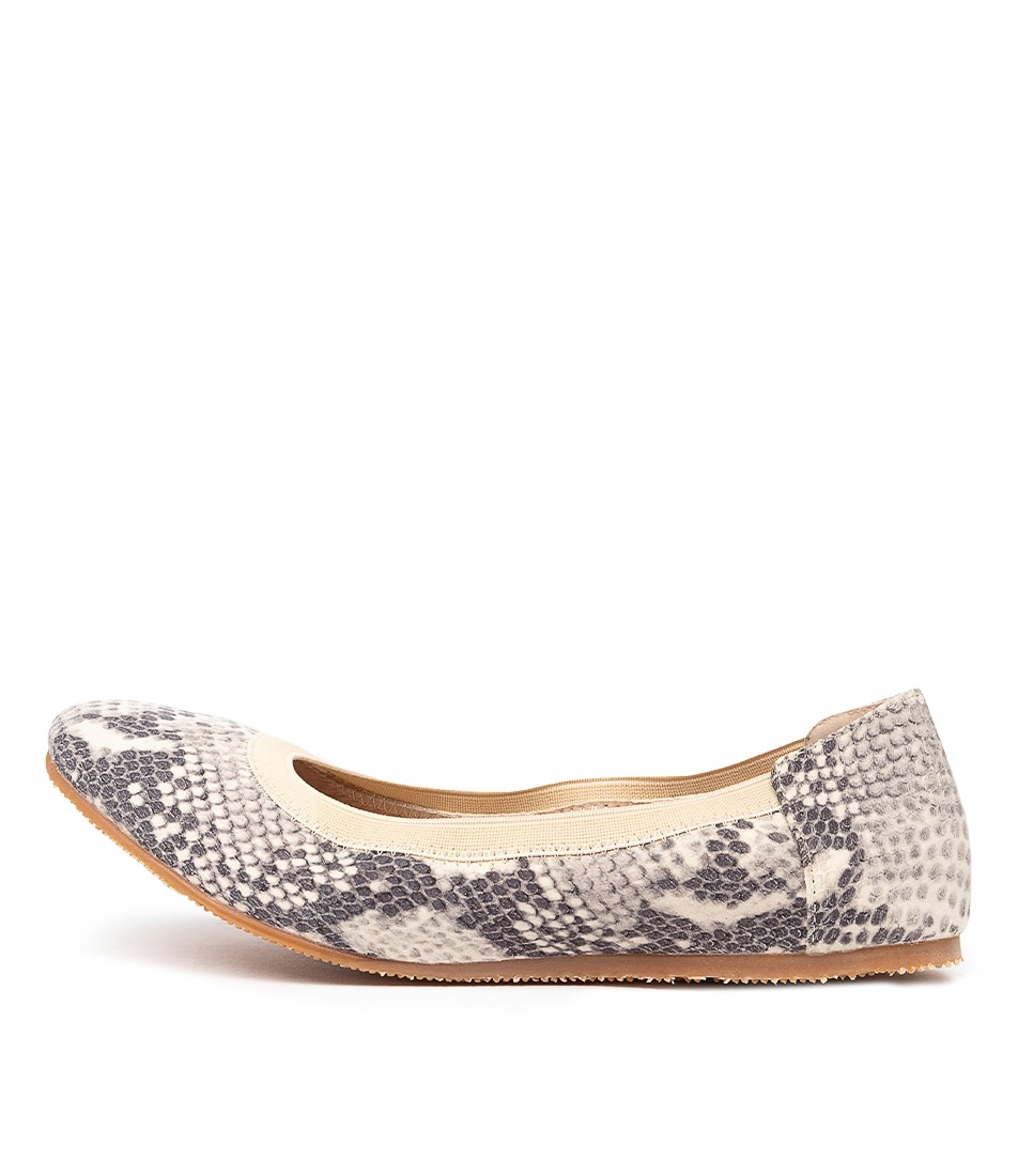 Buy Walnut Ava Artisan Ballet Wa Snake Flats online with free shipping
