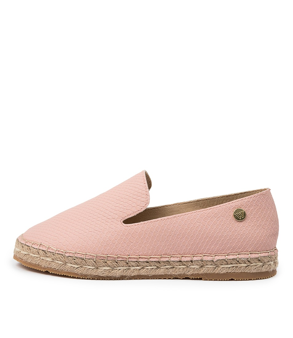 Buy Walnut Golden Espadrille Wa Blush Flats online with free shipping
