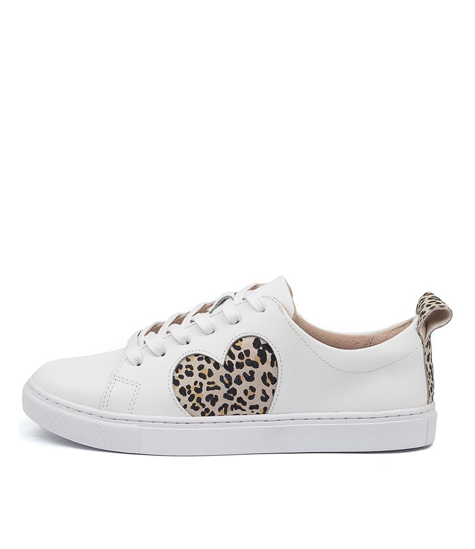 Buy Walnut Heart Sneaker Wa Honey Leopard Sneakers online with free shipping