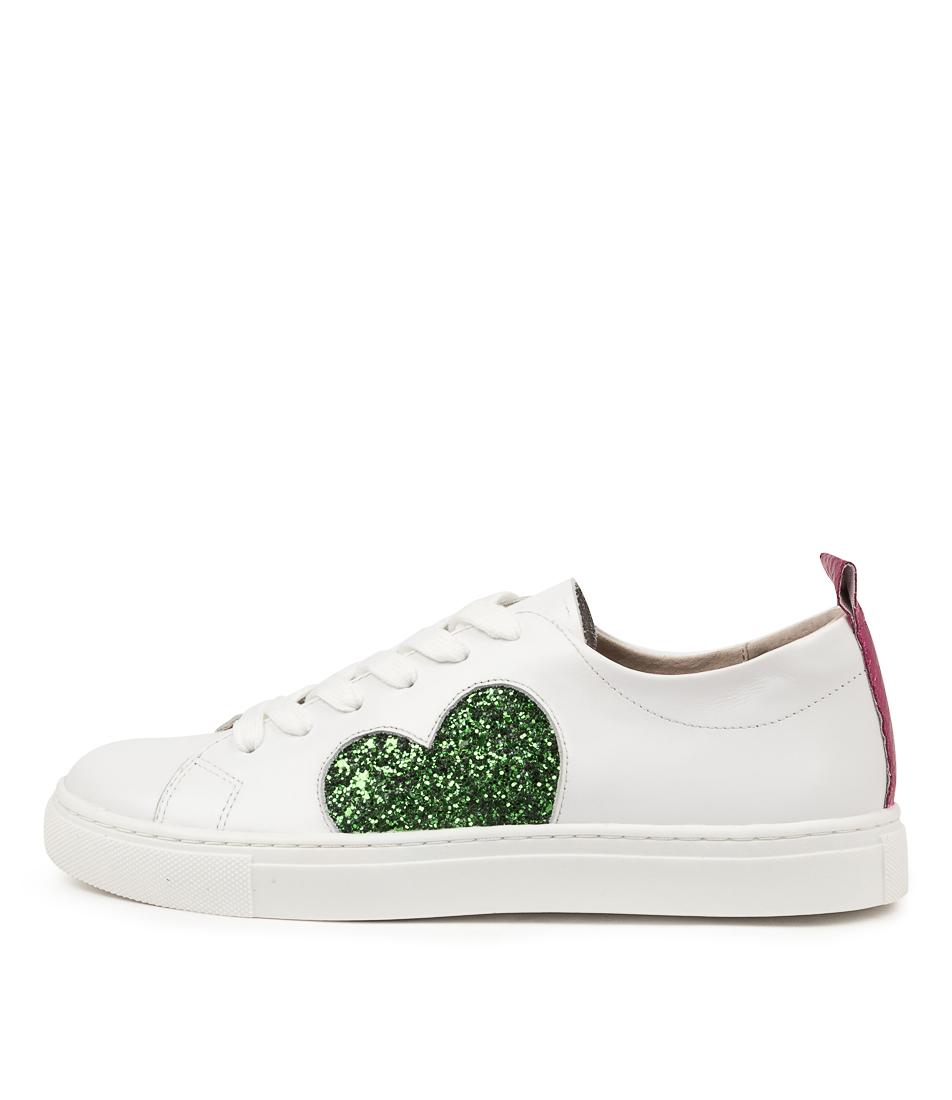 Buy Walnut Heart Sneaker Wa Green Glitter Sneakers online with free shipping