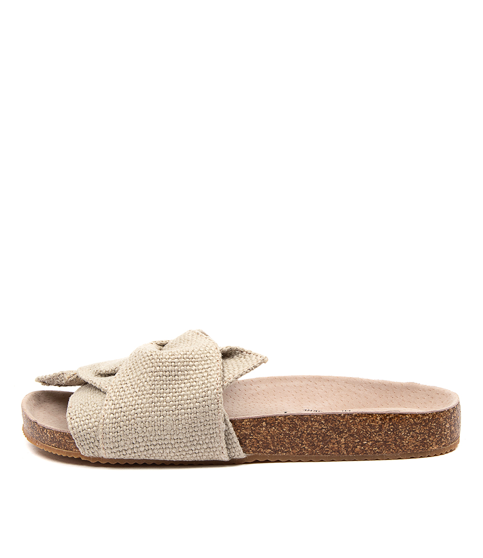 Buy Walnut Somerset Twist Slide Wa Sand Flat Sandals online with free shipping