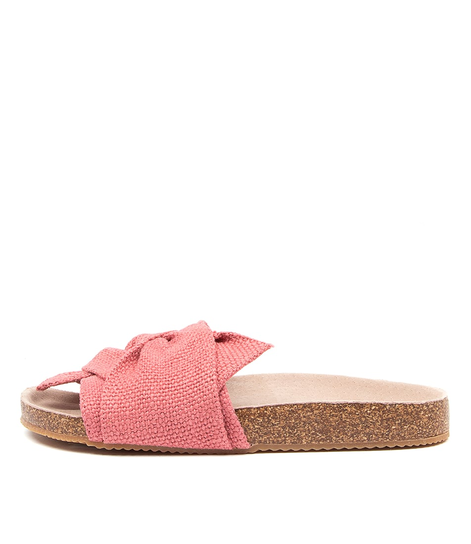 Buy Walnut Somerset Twist Slide Wa Coral Flat Sandals online with free shipping