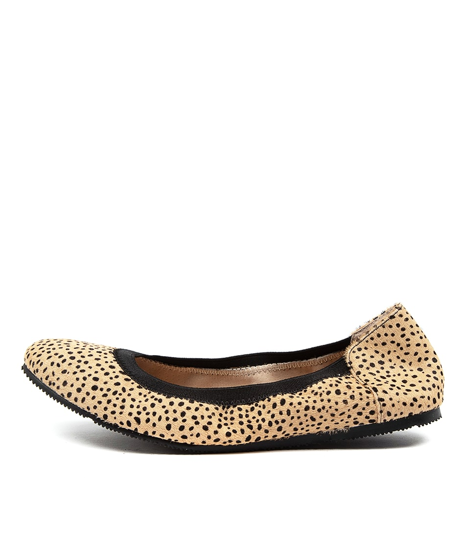 Buy Walnut Ava Ballet Pony Wa Lt Tan Cheetah Flats online with free shipping