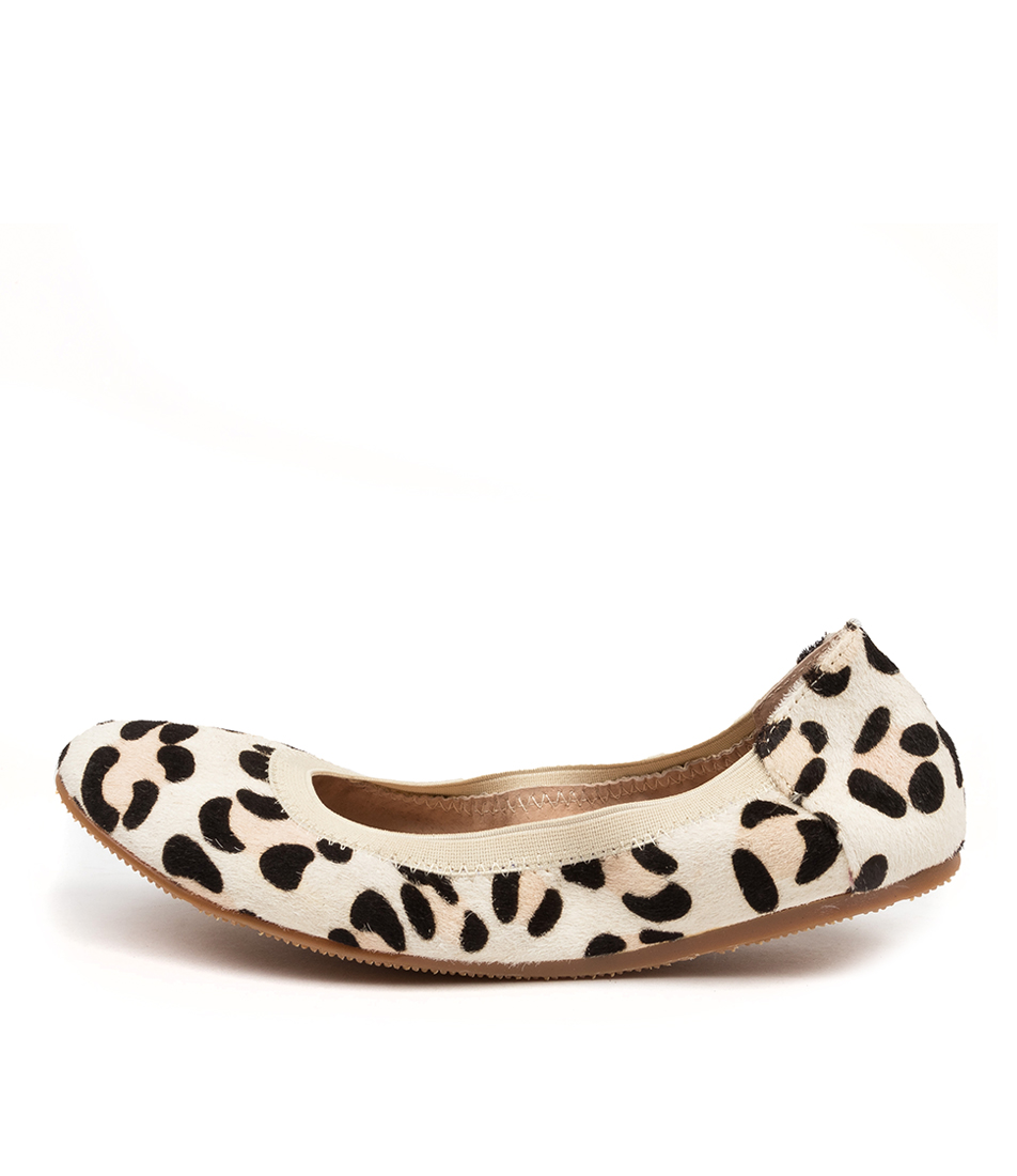 Buy Walnut Ava Ballet Animal Wa White Leopard Flats online with free shipping