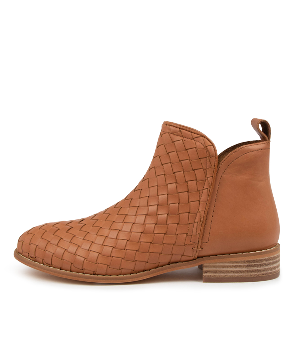 Buy Walnut Douglas Weave Wa Tan Ankle Boots online with free shipping